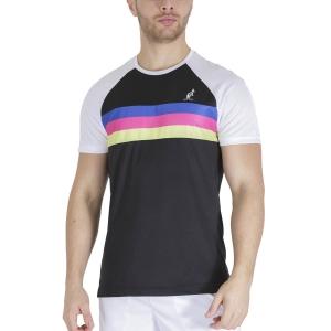 Men's Tennis Shirts Australian 3 Lines Player TShirt  Nero TEUTS0006003