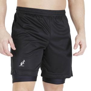 Men's Tennis Shorts Australian Ace 2 in 1 7in Shorts  Nero TEUSH0006003