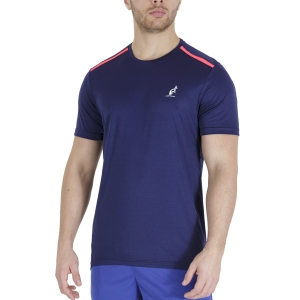 Maglietta Tennis Uomo Australian Ace Maglietta  Blu Cosmo TEUTS0002842