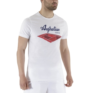 Men's Tennis Shirts Australian Court Graphic TShirt  Bianco TEUTS0004002