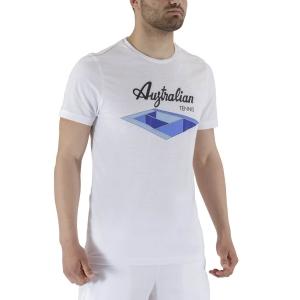 Men's Tennis Shirts Australian Court Graphic TShirt  Bianco TEUTS0004002A