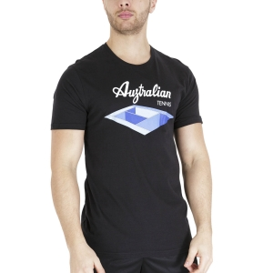 Men's Tennis Shirts Australian Court Graphic TShirt  Nero TEUTS0004003