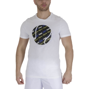 Maglietta Tennis Uomo Australian Graphic Ball Maglietta  Bianco TEUTS0007002