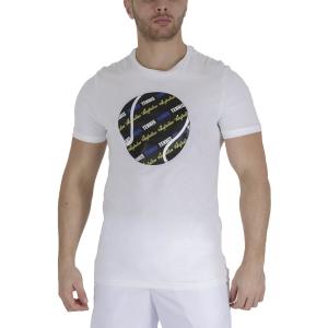 Men's Tennis Shirts Australian Graphic Ball TShirt  Bianco TEUTS0007002