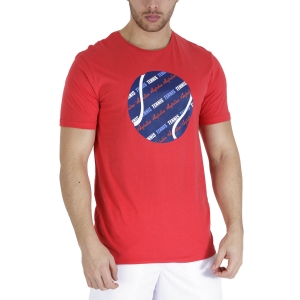 Maglietta Tennis Uomo Australian Graphic Ball Maglietta  Rosso TEUTS0007720
