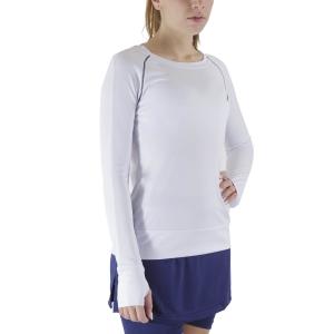 Women's Tennis Shirts and Hoodies Australian Logo Shirt  Bianco TEDTS0003002