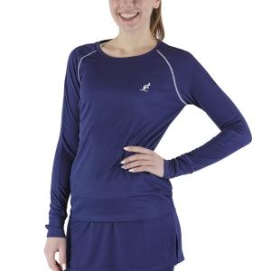 Women's Tennis Shirts and Hoodies Australian Logo Shirt  Blu Cosmo TEDTS0003842