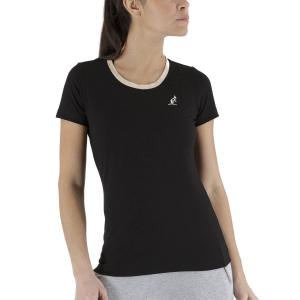 Camisetas y Polos de Tenis Mujer Australian Piquet Camiseta  Satin/Black LSDTS0005003