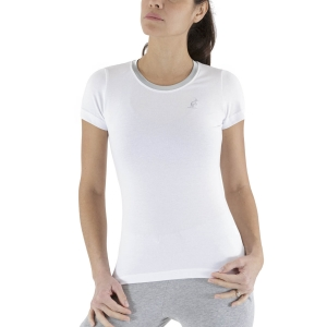 Magliette e Polo Tennis Donna Australian Piquet Maglietta  Satin/White LSDTS0005002