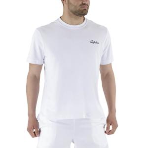 Camisetas de Tenis Hombre Australian Piquet Camiseta  Bianco LSUTS0003002
