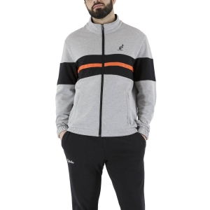 Men's Tennis Suit Australian Piquet Bodysuit  Grigio Melange/Black LSUTU0054101