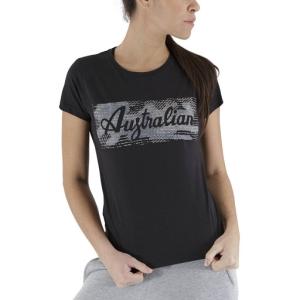 Magliette e Polo Tennis Donna Australian Print Maglietta  Black LSDTS0003003