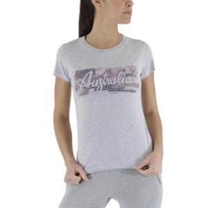 Magliette e Polo Tennis Donna Australian Print Maglietta  Heather Grey LSDTS0003101
