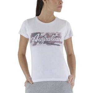 Magliette e Polo Tennis Donna Australian Print Maglietta  White LSDTS0003002