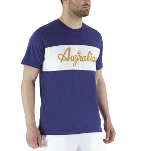 Men's Tennis Shirts Australian Print TShirt  Blu Cosmo LSUTS0004842