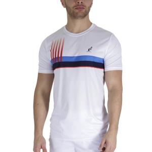 Maglietta Tennis Uomo Australian Printed Player Maglietta  Bianco TEUTS0003002