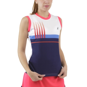 Canotte Tennis Donna Australian Printed Stripes Canotta  Blu Cosmo TEDTS0002842