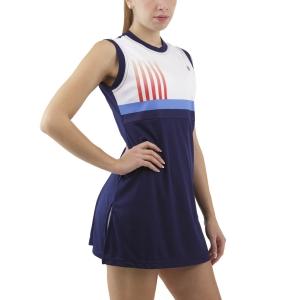 Vestito da Tennis Australian Printed Stripes Vestito  Blu Cosmo TEDAB0001842