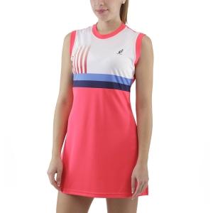 Vestito da Tennis Australian Printed Stripes Vestito  Psyco Red TEDAB0001419