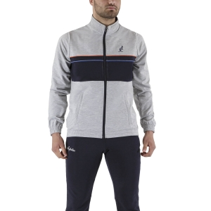 Men's Tennis Suit Australian Small Logo Bodysuit  Grigio Melange/Navy Blue LSUTU0034101