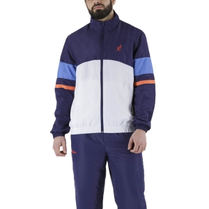 Men's Tennis Suit Australian Smash Full Zip Bodysuit  Cosmo/Bianco/Zaffiro LSUTU0048002