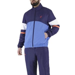 Men's Tennis Suit Australian Smash Full Zip Bodysuit  Cosmo/Zaffiro/Bianco LSUTU0048809