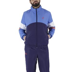 Men's Tennis Suit Australian Smash Full Zip Bodysuit  Zaffiro/Cosmo/Bianco LSUTU0048842