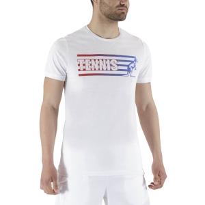 Camisetas de Tenis Hombre Australian Tennis Graphic Logo Camiseta  Bianco TEUTS0001002