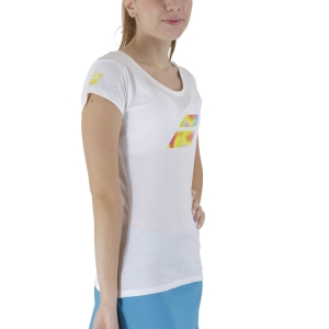 Women`s Tennis T-Shirts and Polos Babolat Exercise Big Flag TShirt  White 4WS214421000