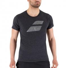 Babolat Exercise Big Flag T-Shirt - Black Heather