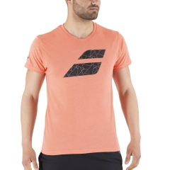 Babolat Exercise Big Flag T-Shirt - Living Coral Heather
