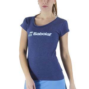 Women`s Tennis T-Shirts and Polos Babolat Exercise Glitter TShirt  Estate Blue Heather 4WS214434005