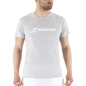 Men's Tennis Shirts Babolat Exercise TShirt  High Rise Heather 4MP14413002