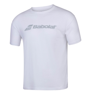 Tennis Polo and Shirts Babolat Exercise TShirt Boy  White 4BP14411000