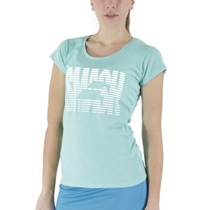 Women`s Tennis T-Shirts and Polos Babolat Exercise Message TShirt  Cockatoo Heather 4WS214458003