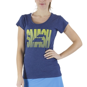 Women`s Tennis T-Shirts and Polos Babolat Exercise Message TShirt  Estate Blue Heather 4WS214454005