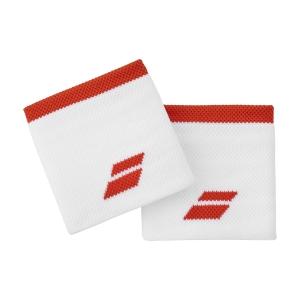 Muñequeras Tenis Babolat Logo Munequeras  White/Fiesta Red 5UA12611043
