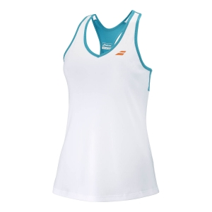 Top and Shirts Girl Babolat Play Tank Girl  White/Caneel Bay 3GTB0711048