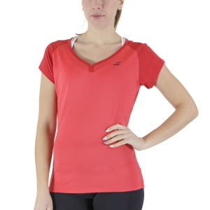 Women`s Tennis T-Shirts and Polos Babolat Play Cap TShirt  Tomato Red 3WP10115027