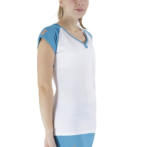 Women`s Tennis T-Shirts and Polos Babolat Play Cap Sleeve TShirt  White Caneel Bay 3WTB0111048