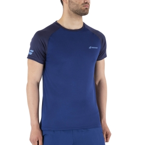Men's Tennis Shirts Babolat Play Crew TShirt  Estate Blue 3MP10114000