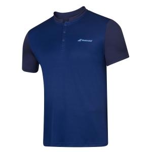 Tennis Polo and Shirts Babolat Play Polo Boy  Estate Blue 3BP10214000