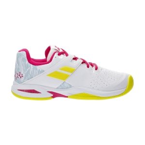 Junior Tennis Shoes Babolat Propulse All Court Girl  White/Red Rose 33S214781058