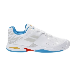 Junior Tennis Shoes Babolat Propulse All Court Boy  White/Diva Blue 33S214781010