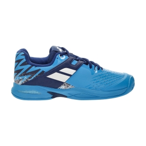 Junior Tennis Shoes Babolat Propulse Clay Junior  Drive Blue 33S217504086