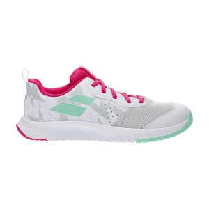 Junior Tennis Shoes Babolat Pulsion All Court Girl  White/Red/Rose 33S214821058