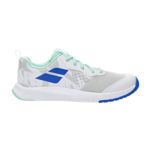 Junior Tennis Shoes Babolat Pulsion All Court Junior  White/Biscay Green 33S214821059