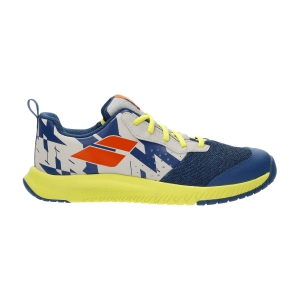 Junior Tennis Shoes Babolat Pulsion All Court Boy  Dark Blue/Sulphur Spring 33S214824087