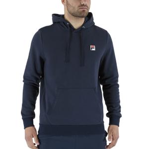 Men's Tennis Shirts and Hoodies Fila Edward Hoodie  Peacoat Blue FLU211008100