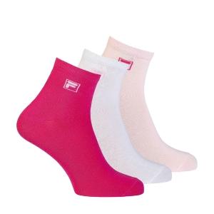Tennis Socks Fila Kurz Logo x 3 Socks  Pink Panther F9303806